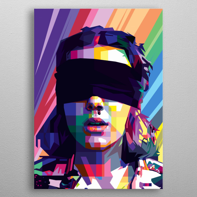 Pop Art Potrain in WPAP Style of Millie Bobby Brown as Eleven (EL) from  Netflix science fiction horror series Stranger Things. metal poster