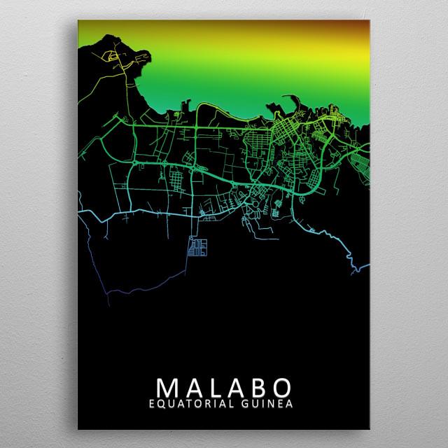 Malabo Equatorial Guinea  metal poster