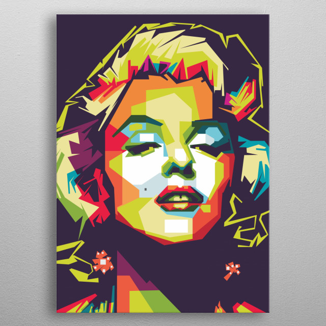 """Marilyn Monroe is an American actress and model.  Famous for playing the character """"stupid blonde"""", he became one of the most popular sex  metal poster"""