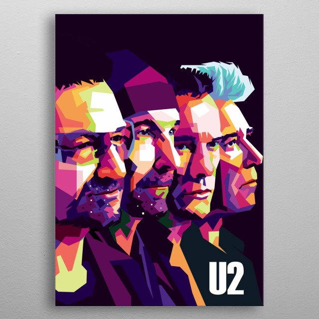 its illustration from band U2  metal poster