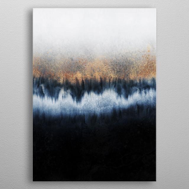Mixed media abstract. metal poster