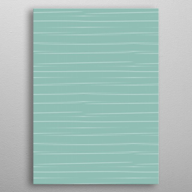 A soft sea blue background with waving water lines to bring anyone in a meditative, calming mood.  metal poster