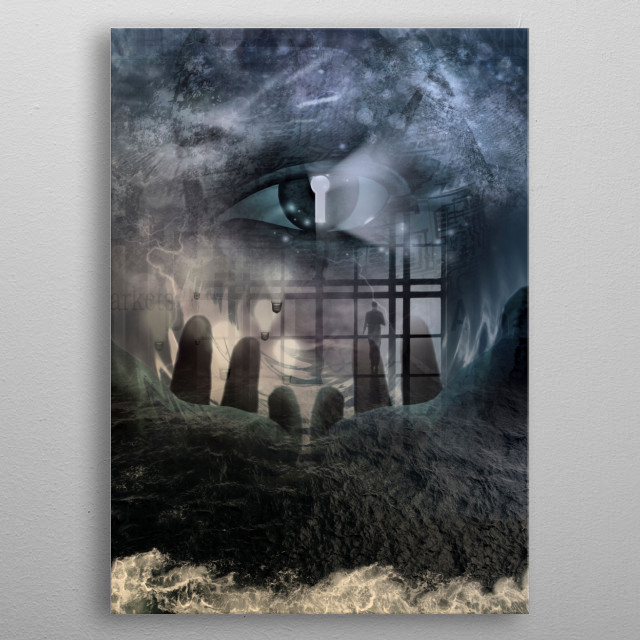 Opening to secrets. Power and mystery composition metal poster
