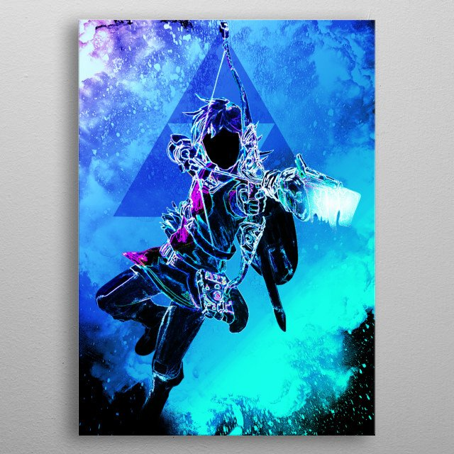 Black Silhouette of the hero of time metal poster