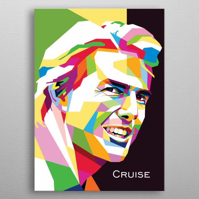 Pop art of Tom Cruise metal poster
