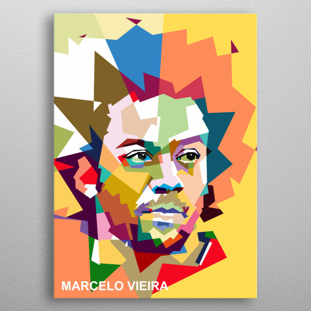 Marcelo Viera on wpap color pop art style metal poster