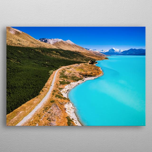 Lake Pukaki, New Zealand metal poster