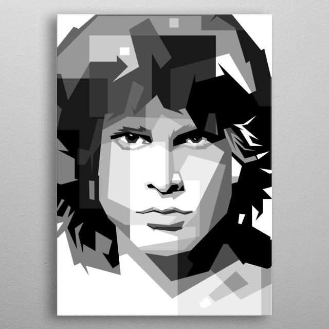 Cool Man Portrait, in design WPAP ilusrtation metal poster