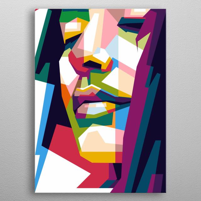 woman portrait awesome  design pop art ilustration color metal poster