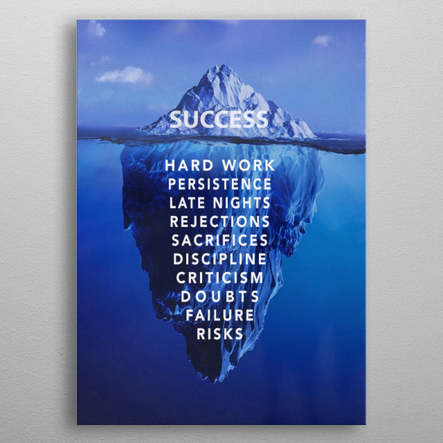 High-quality metal print from amazing Motivational collection will bring unique style to your space and will show off your personality. metal poster