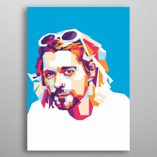 kurt cobain is one of Nirvana team. he is a singer and songwriter. He is remembered as one of the most iconic and influential rock musicians metal poster