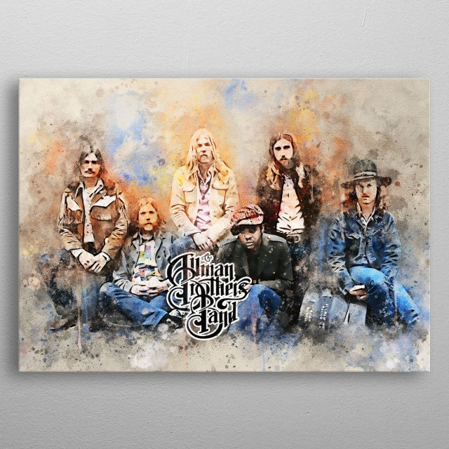 Allman Brothers Band is an American rock band formed in Macon, Georgia, in 1969 by brothers Duane Allman and Gregg Allman, and Dickey Betts, metal poster