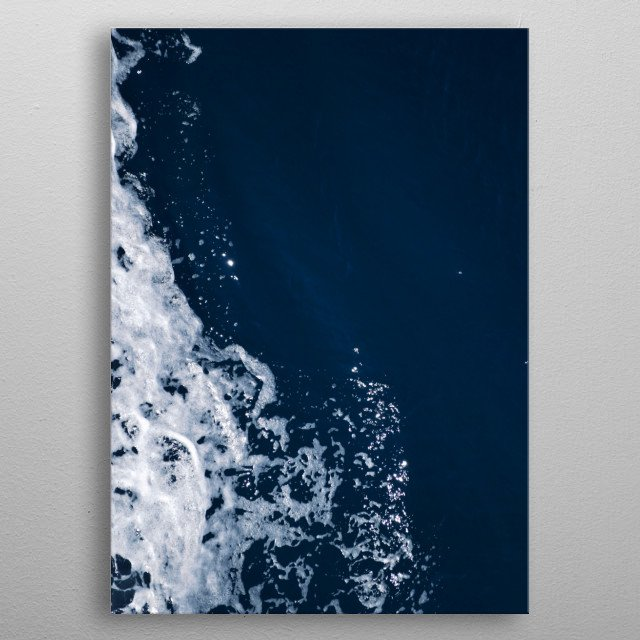 An abstract capture of the blue sea surface. metal poster