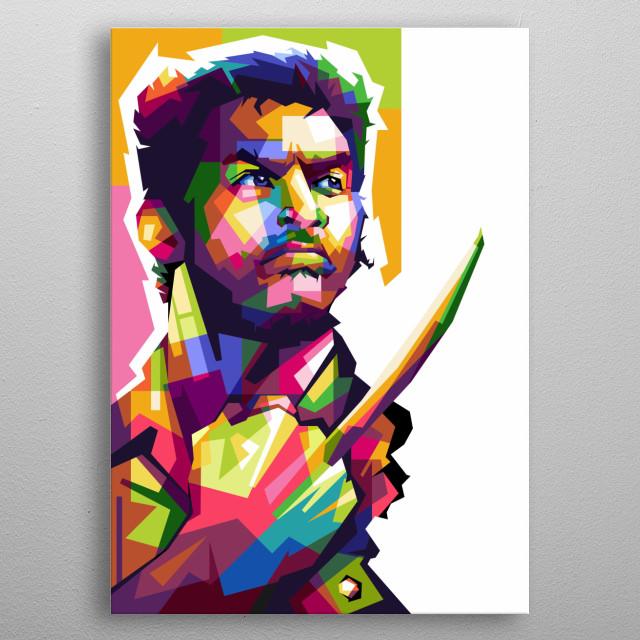 Logan People, design ilustration awesome color in my design pop art metal poster