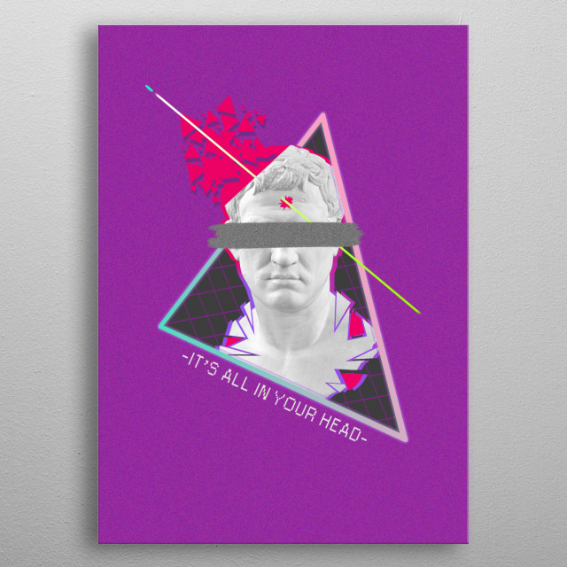 Vaporwave is a microgenre of electronic music and an Internet meme that emerged in the early 2010s. metal poster