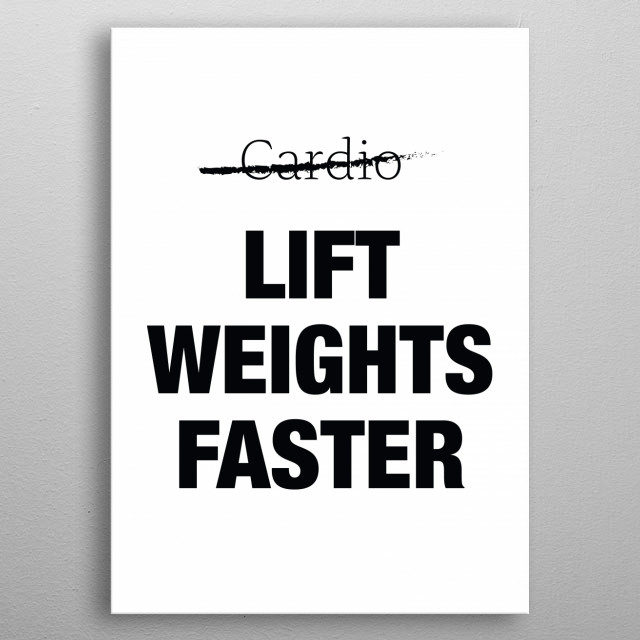 What is cardio? metal poster