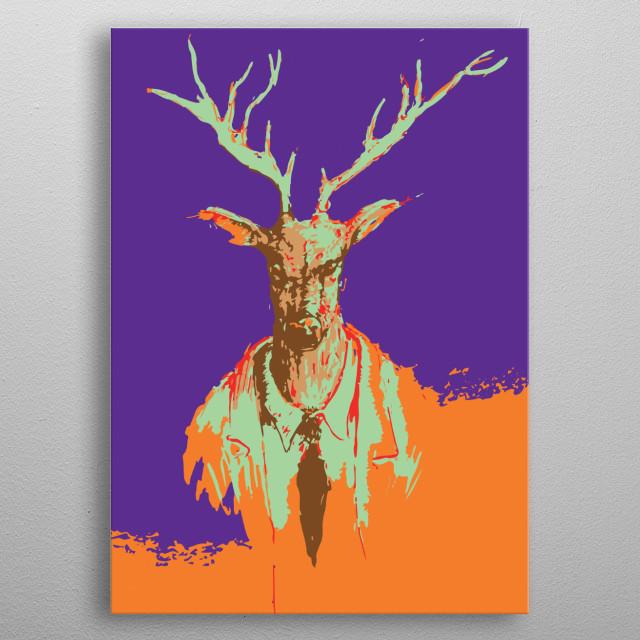 Inspired from Juanjo Guarnido's Blacksad and 90's fashion. metal poster