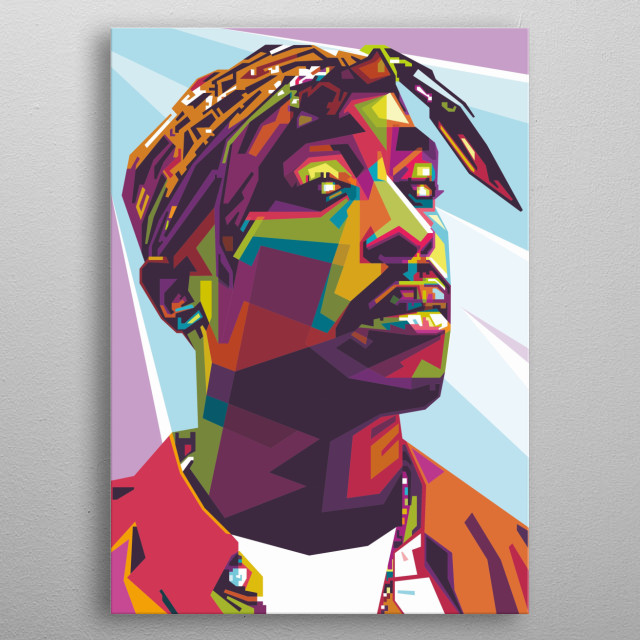 Tupac Amaru Shakur is a rapper, actor, activist and poet from the US. He has a pseudonym 2Pac metal poster