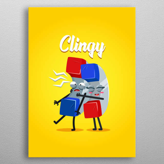 Clingy magnet metal poster
