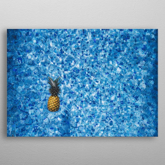 Pineapple Minimalistic Poster Print | metal posters - Displate