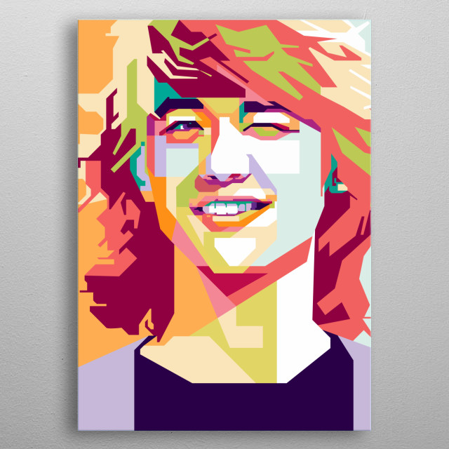 Shinee Minho in WPAP Art metal poster