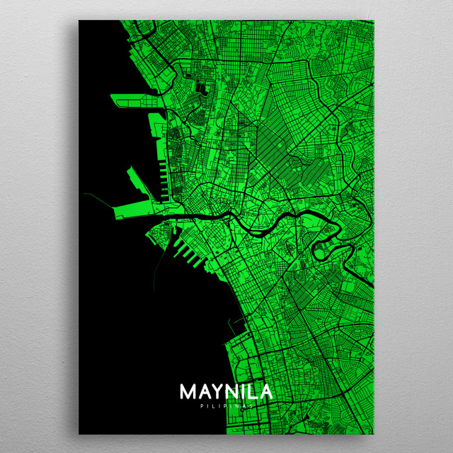 Fascinating metal poster designed by mapsies design. Displate has a unique signature and hologram on the back to add authenticity to each design. metal poster