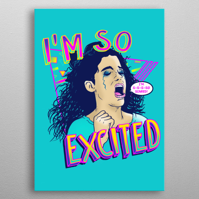 I'm s-s-so scared! metal poster
