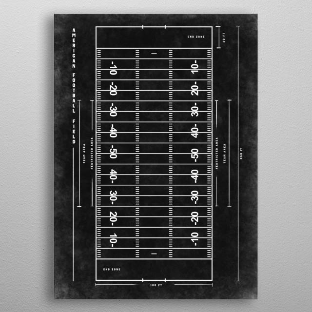 American football - dark version metal poster