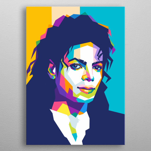 "DescriptionMichael Joseph Jackson was an American singer, songwriter, and dancer. Dubbed the ""King of Pop"". metal poster"