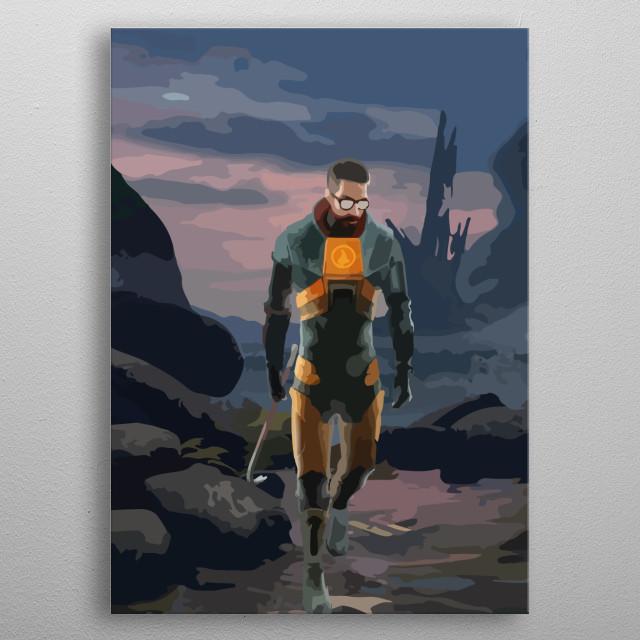 Half Life Gordon Freeman Gaming Poster Print Metal Posters