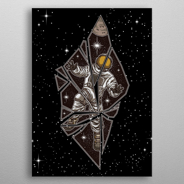 This great universe design is the perfect gift for every rocket enthusiast and science fiction lover. Escape the daily routine and explore. metal poster