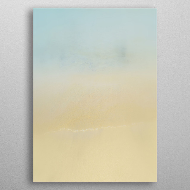 Abstract blur beach background with gently pastels colors.  metal poster