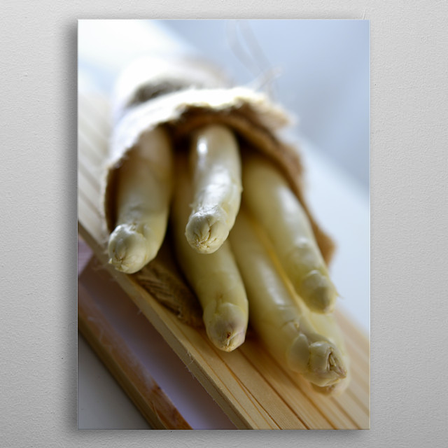 fresh harvested white asparagus from marchfeld in austria metal poster