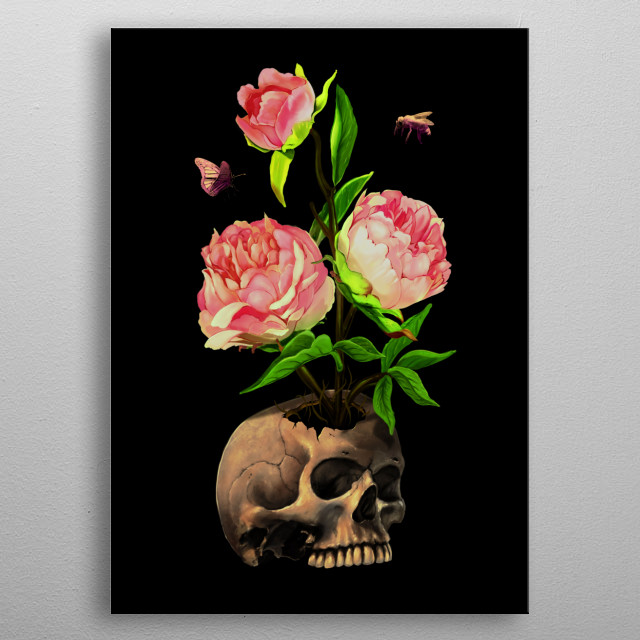 Life and death. metal poster