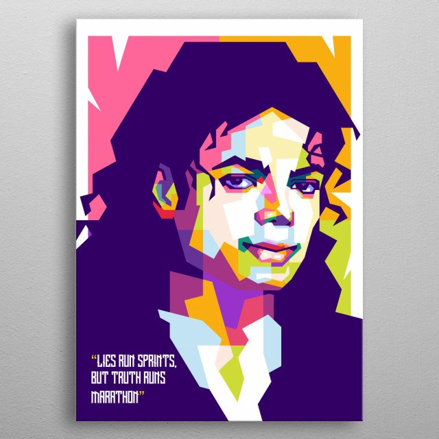 Michael Joseph Jackson was an American singer, songwriter, and dancer. metal poster