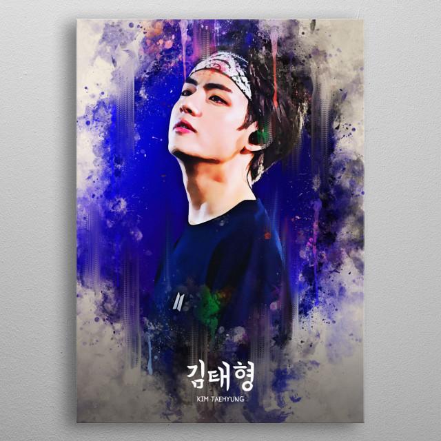 BTS Kim Taehyung by Andi Permana | metal posters - Displate