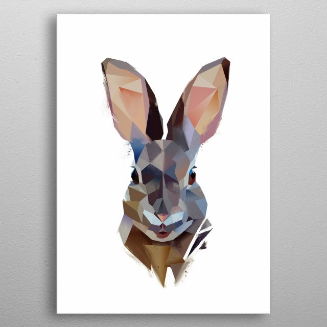 Mountain Rabbit from Modern Animals Collection metal poster
