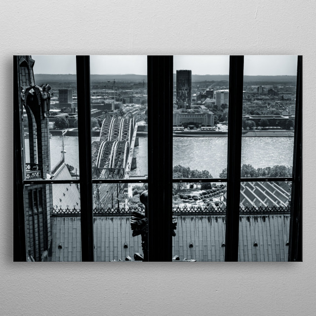 View from cologne cathedral metal poster