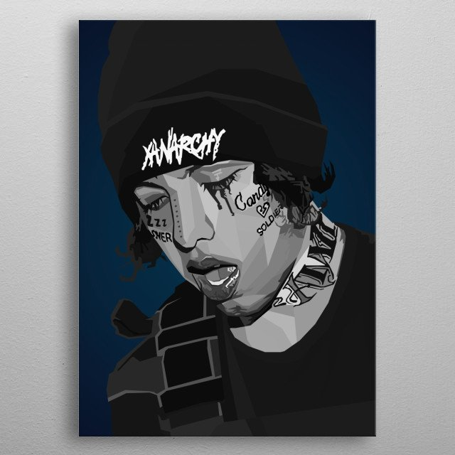 Lil Xan Diego Nicholas Diego Leanos American rapper, singer and songwriter metal poster