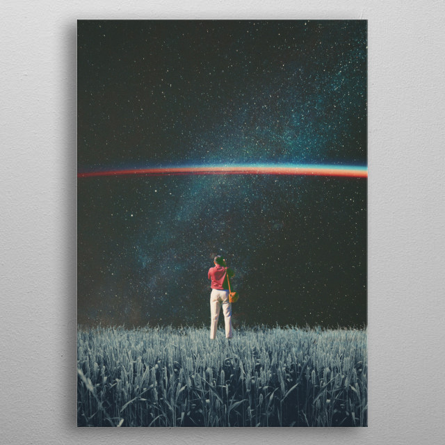 Saw the Light. never felt Alone again. Saw the Light. that I'd been searching for all my Life. metal poster