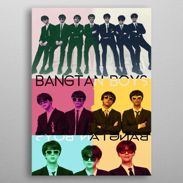BTS Bangtan Sonyeondan kPOP Jin, Suga, j-hope, RM, Jimin, V và Jungkook metal poster