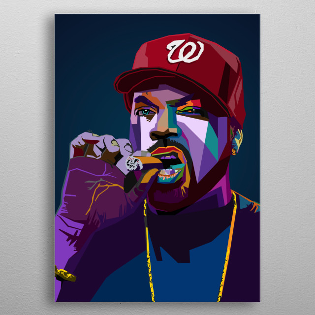Ice Cube Rapper O'Shea Jackson American rapper, actor, producer, director and writer metal poster