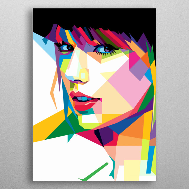 WPAP popart illustration of Taylor Swift metal poster