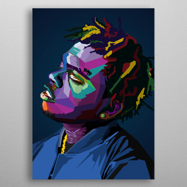 Gunna Rapper - Sergio Giavanni Kitchens American rapper and singer Lil Baby and Young Thug Popart wpap metal poster
