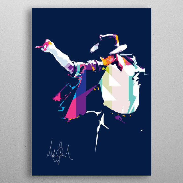 Michael Joseph Jackson (August 29, 1958 – June 25, 2009) was an American singer, songwriter, and dancer. In WPAP Style metal poster