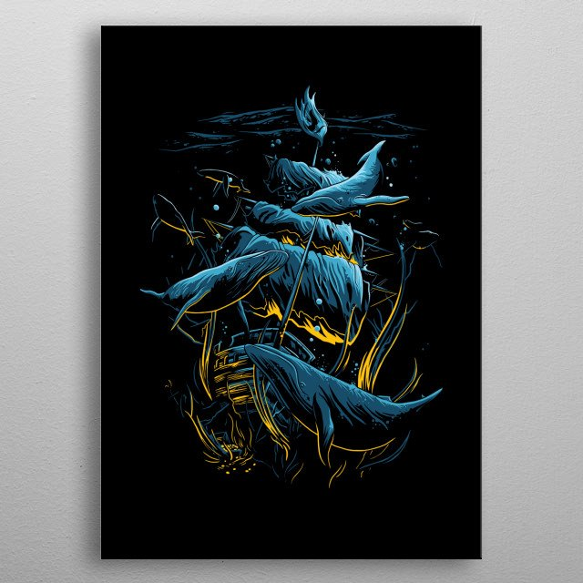 Best Seller! Presenting B0aty's Ship's Demise Limited Edition shirt design, now available as your own Displate canvas! Best Seller metal poster