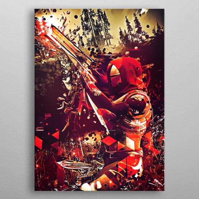 Hunter from Destiny 2 gun master metal poster