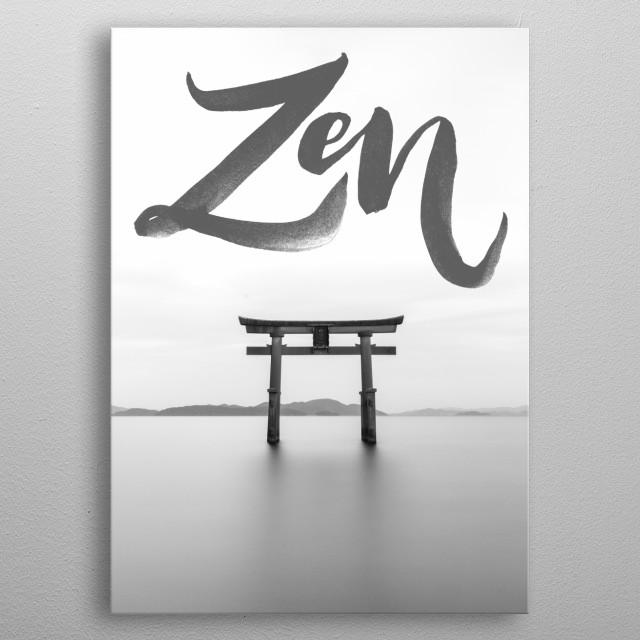 Zen typography text art yoga poster metal poster