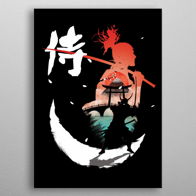 Ilustration inspired by the Samurai metal poster