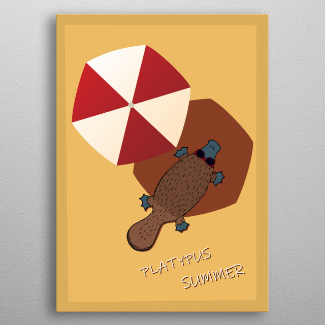 lazy summertime days metal poster